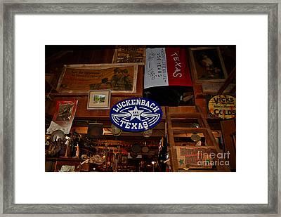 The General Store In Luckenbach Tx Framed Print by Susanne Van Hulst