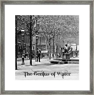 The Genius Of Water 1906 Framed Print by Padre Art