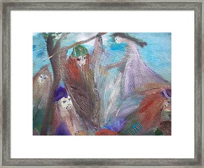 The Gentle Waves Will Carry You Back To Me Framed Print by Judith Desrosiers