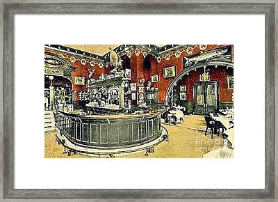 The Gentleman's Cafe And Bar In The Hotel Navarre Framed Print by Dwight Goss