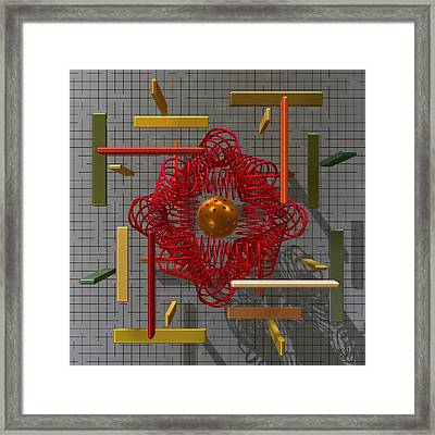 The Geometer's Toys Framed Print by Manny Lorenzo