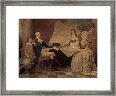 The George Washington Family Framed Print by Everett