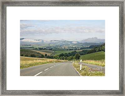 The German Highway Framed Print by Randy Kostichka