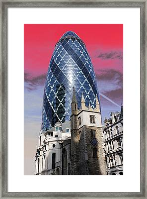 The Gherkin London Framed Print by Jasna Buncic