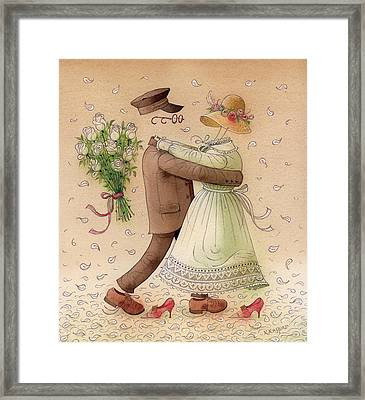The Ghost Dance Framed Print by Kestutis Kasparavicius