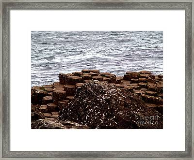 The Giant's Stepping Stones Framed Print by Patricia Griffin Brett