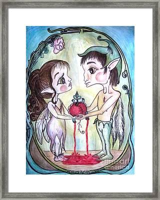 The Gift Framed Print by Koral Garcia