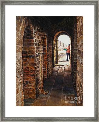 The Gift Framed Print by Lynette Cook