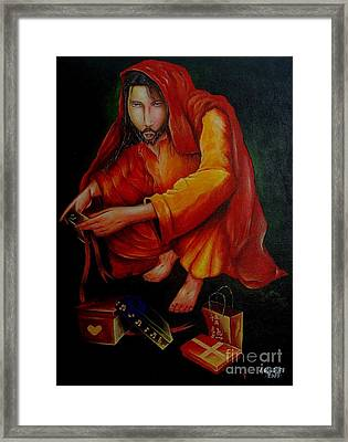The Gifts Of Guidance Framed Print by Jay Anthony Gonzales