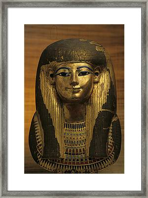 The Gilded Funerary Mask Of Tuts Framed Print by Kenneth Garrett