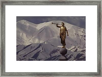 The Gilded Statue Of The Angel Moroni Framed Print