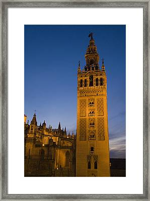 The Giralda Tower And Cathedral De Framed Print by Krista Rossow