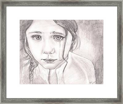 The Girl Framed Print by Beverly Marshall