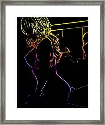 The Girl In The Mirror Framed Print by Steve K