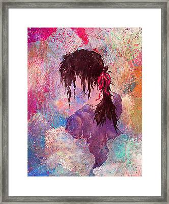 The Girl Of Many Colors Framed Print by Rachel Christine Nowicki