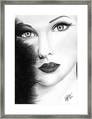 The Girl With Stars In Her Eye's Framed Print