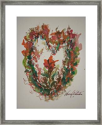 The Giving Of My Heart Framed Print by Edward Wolverton