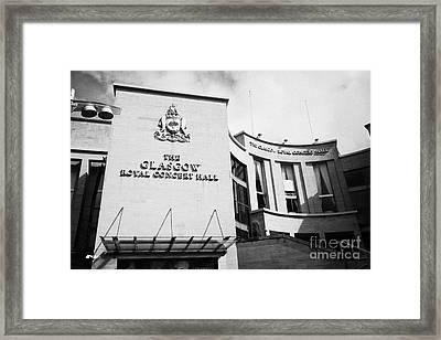 The Glasgow Royal Concert Hall Glasgow Scotland Uk Framed Print by Joe Fox