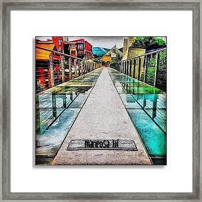 The Glass Bridge Framed Print