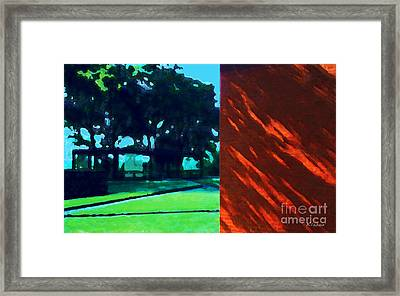 Framed Print featuring the digital art The Glass House by David Klaboe