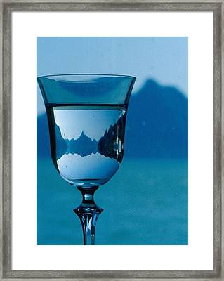 Framed Print featuring the photograph The Glass by Michael Dohnalek