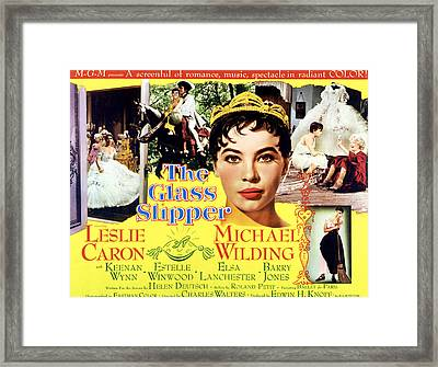 The Glass Slipper, Leslie Caron Framed Print
