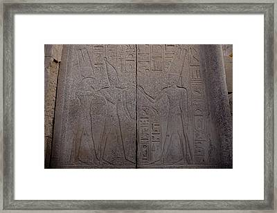 The Gods Horus And Amun Are Represented Framed Print by Taylor S. Kennedy