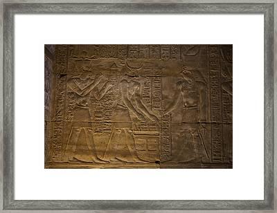 The Gods Horus, Hathor And The Pharaoh Framed Print by Taylor S. Kennedy