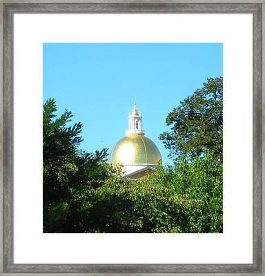 The Gold Dome Framed Print by Bruce Carpenter