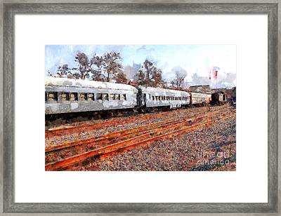 The Golden Age Of Railroads . 7d115623 Framed Print by Wingsdomain Art and Photography