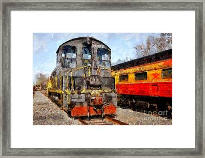 The Golden Age Of Railroads . 7d11588 Framed Print by Wingsdomain Art and Photography