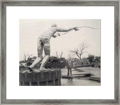 The Golden Fisherman Framed Print by De Beall