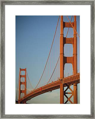 The Golden Gate Bridge At Dawn Framed Print by Axiom Photographic