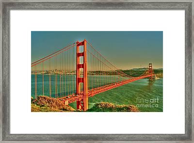 The Golden Gate Bridge Summer Framed Print