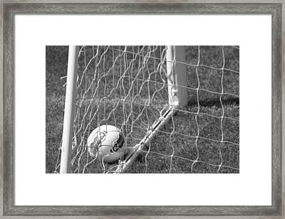 The Golden Goal Framed Print