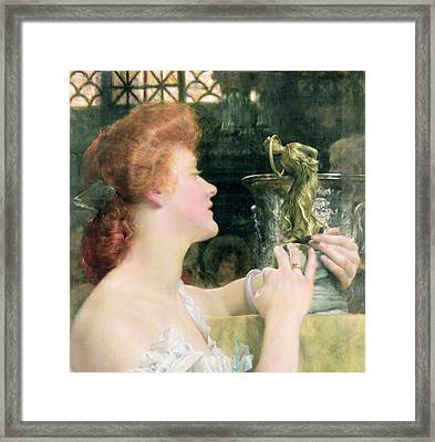 The Golden Hour Framed Print by Sir Lawrence Alma-Tadema