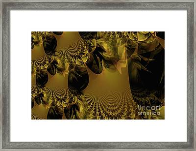 The Golden Mascarade Framed Print