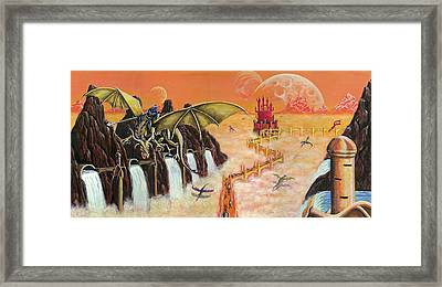The Golden Path Framed Print by Kurt Jacobson