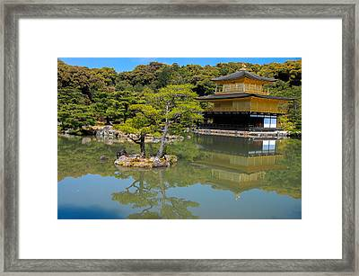 The Golden Pavilion Framed Print