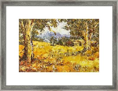 The Golden Valley Framed Print by Georgiana Romanovna
