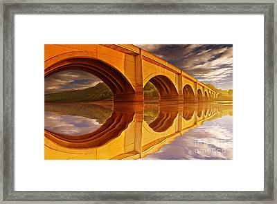 The Golden Viaduct Framed Print by Nigel Hatton