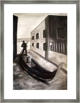 The Gondola Framed Print by C Nick