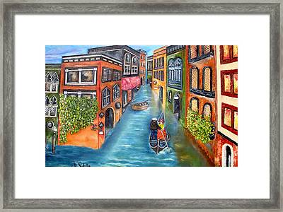 The Gondola Ride Framed Print