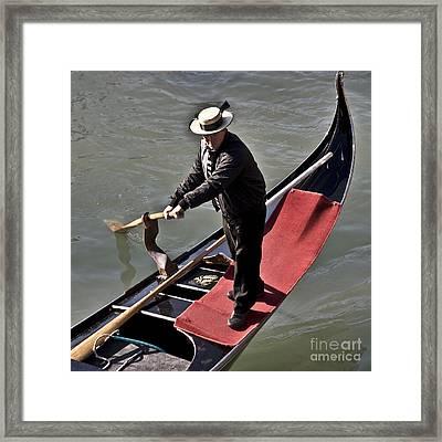 The Gondolier Framed Print