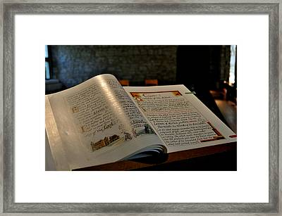 The Good Book Framed Print