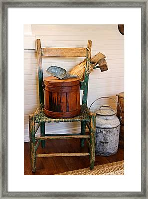 The Good Old Chair Framed Print by Carmen Del Valle