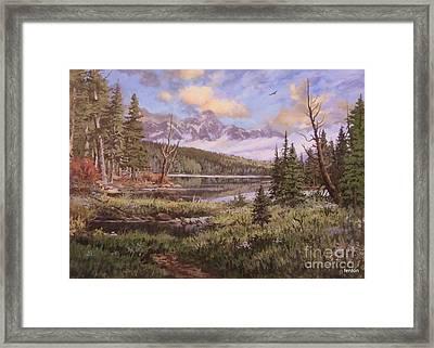 The Gore Range Framed Print by W  Scott Fenton