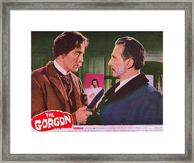 The Gorgon, From Left Christopher Lee Framed Print by Everett