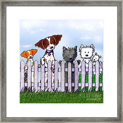 The Gossip Gang Framed Print by Kim Niles