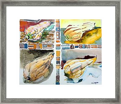 The Gourd Quartet Framed Print by Mindy Newman